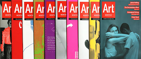 Art Monthly covers