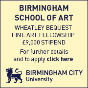 Wheatley Bequest 2016 Birmingham City Uni