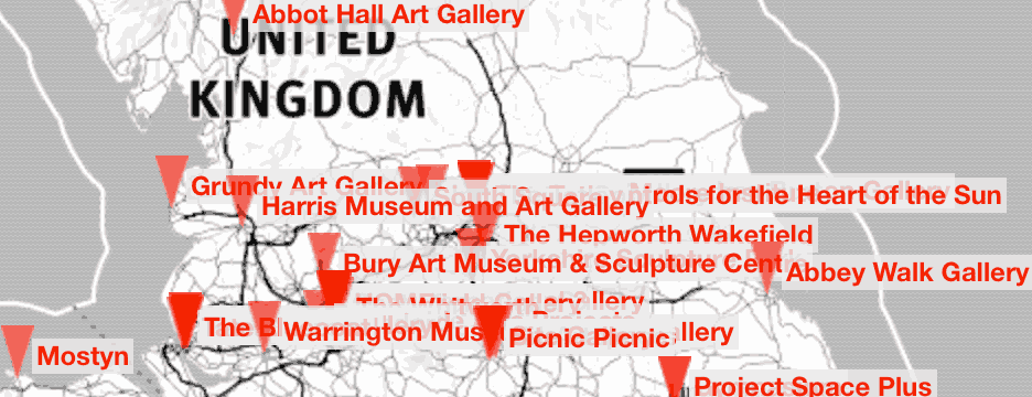 View the UK gallery exhibition listings