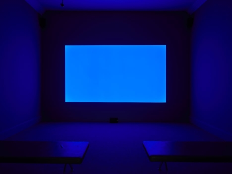 Derek Jarman, <em>Blue</em>, 1993, installation view at IMMA, Dublin