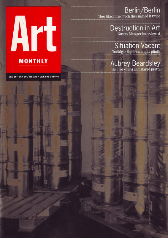 art monthly magazine issue 222 dec jan 98 99