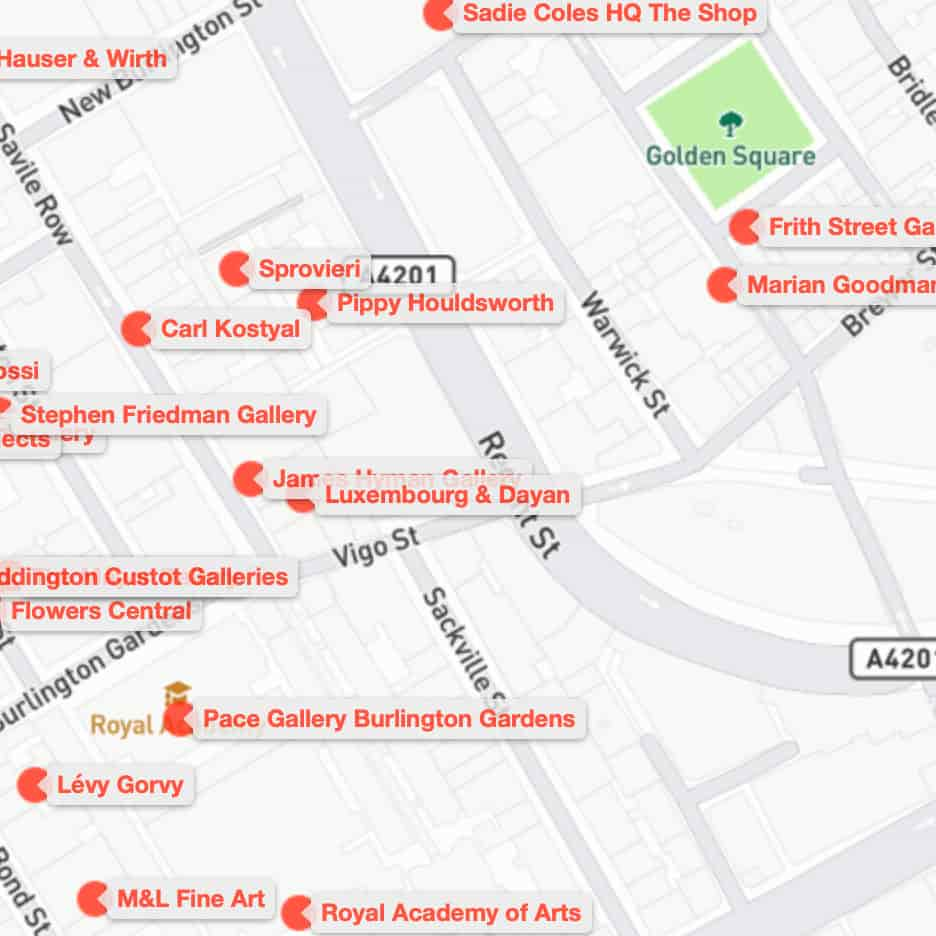 Art Monthly Gallery Maps